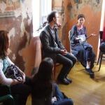 Wizyta w dawnym domu modlitwy Cukiermana w Będzinie (2009)