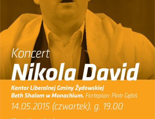 Koncert: kantor Nikola David (Niemcy)